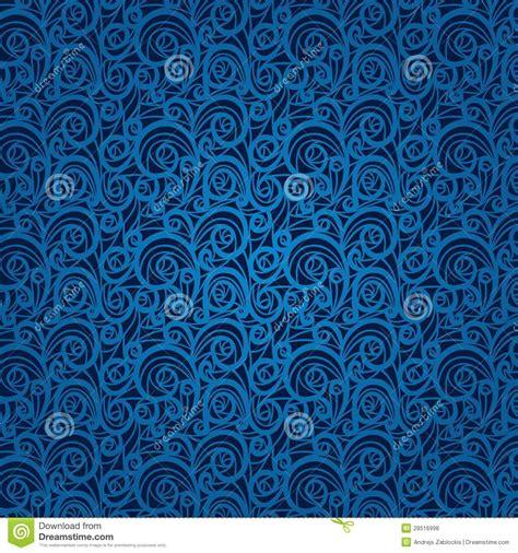 blue vintage floral pattern   dark background royalty
