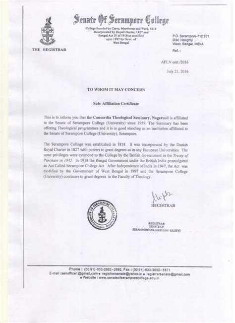 Concordia Acceptance Letter Academics Concordia Theological Seminary