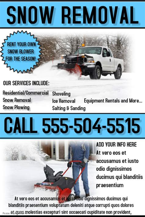 templates brochure snow removal snow removal flyers