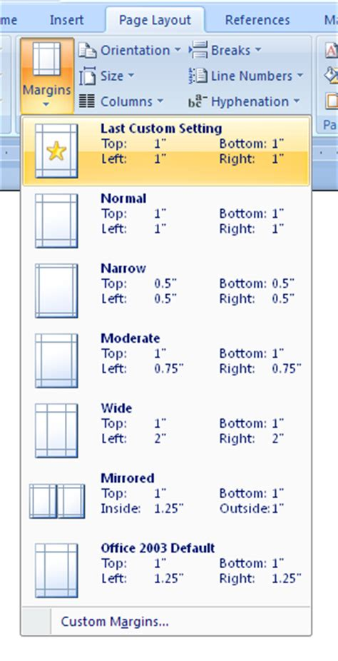microsoft word normal layout select standard margins margins 171 style formatting