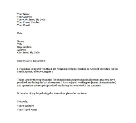 Grateful For The Opportunity Resignation Letter Resignation Letter Format Grateful Note Resignation