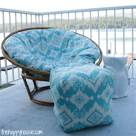 how to sew a diy papasan chair cover the happy housie