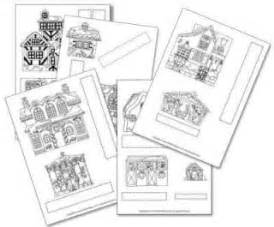 printable christmas village template free christmas colouring pages for children