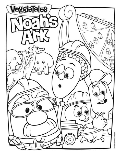Noah S Ark Coloring Page Veggie Tales Pinterest Veggietales Coloring Pages