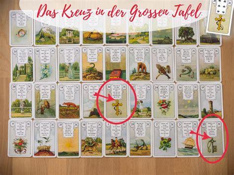 lenormand karten deutung große tafel die gro 223 e tafel die lenormandkarte das kreuz und seine