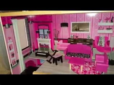 barbie doll house mansion kidkraft sparkle mansion barbie dollhouse youtube