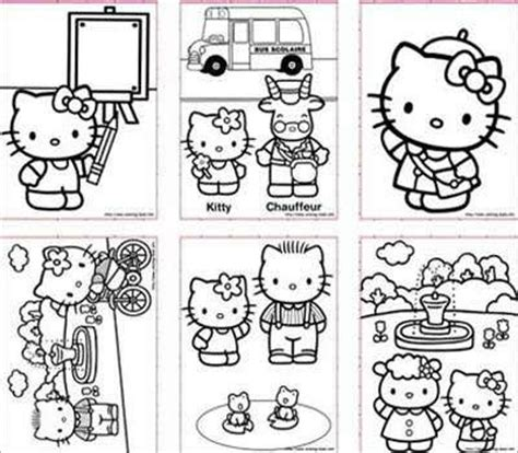 hello kitty at school coloring pages hello kitty pictures hello kitty pictures to print