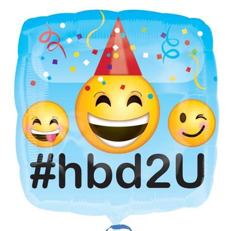 Wedding Wishes Emoji by Happy Birthday Square Emoji Foil Balloon Balloons Co Uk