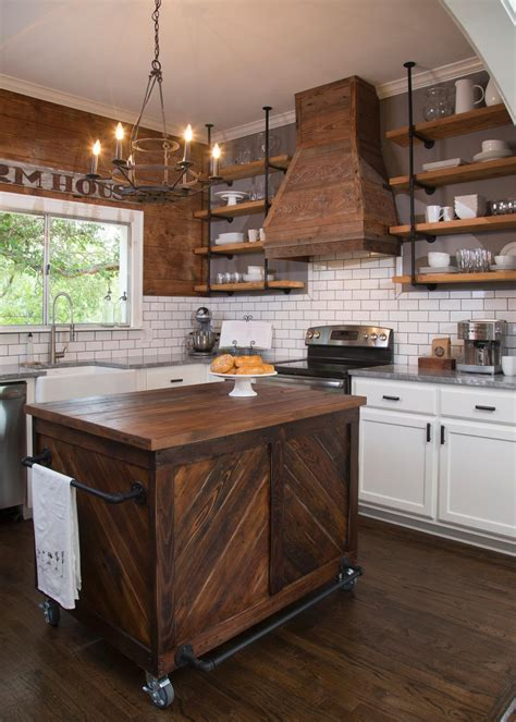 kitchen island shelves hgtv fixer upper on pinterest fixer upper joanna gaines