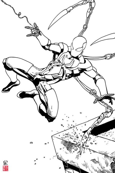 iron spiderman coloring pages to print iron spider coloring pages