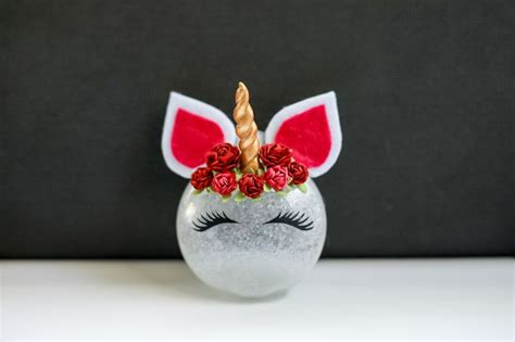 unique unicorn ornaments ideas  pinterest