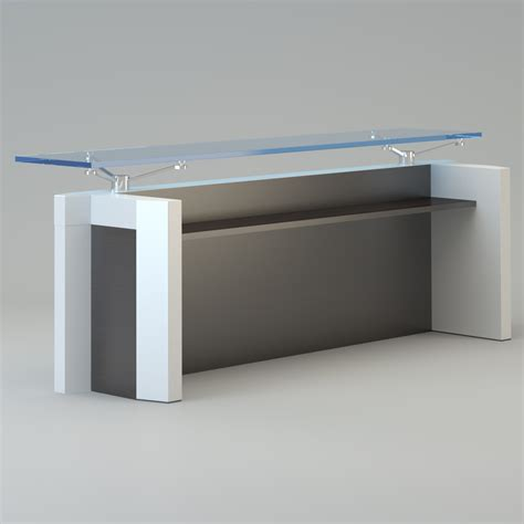 Designer Reception Desk Contemporary Reception Desk 3d Model Max Cgtrader