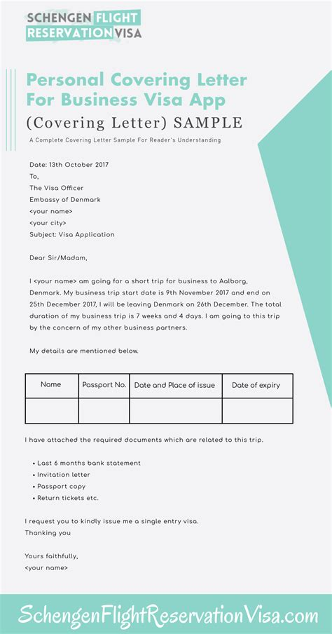 cover letter format denmark personal covering letter guide and sles for visa
