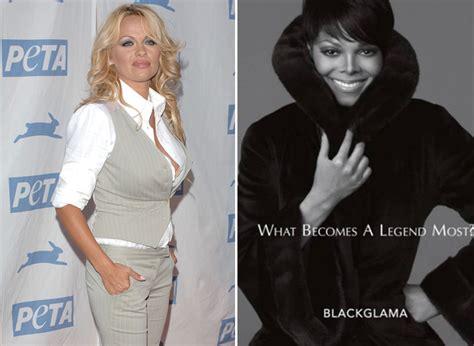 Pam Andersons Fur Fury by Blasts Janet Jackson S Fur Ad Extratv