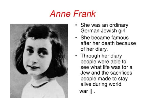 anne frank biography powerpoint anne frank