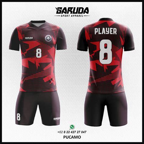 desain baju online gratis desain baju futsal printing keren merah pucamo garuda