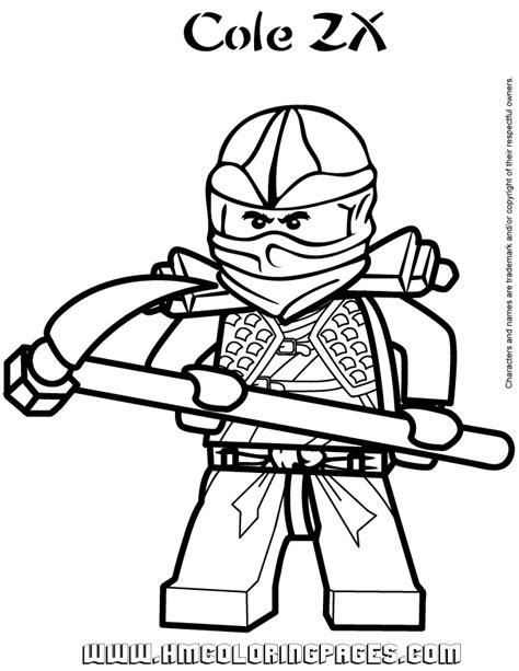 ninjago cole zx coloring page free printable coloring