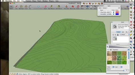 topography in sketchup modeling topography w dwg contour map and sandbox tools sketchup for landscape architects