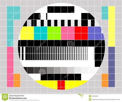 tv test pattern vector tv multicolor signal test pattern stock vector image