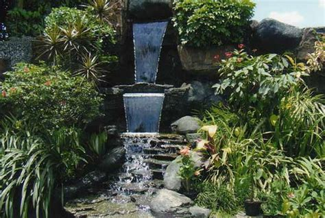 kolam air mancur mini indah  cantik rumah impian