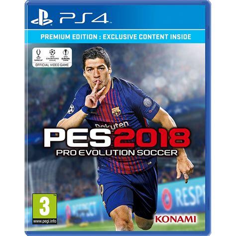 Bd Ps4 Pes2018 Exclusive Edition Reg 2 ps4 pro evolution soccer 2018 r2 eu play inc