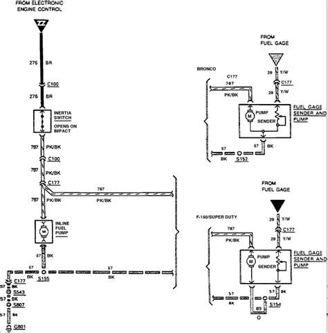 Fuel System Ford Ranger 1988 Ford Ranger Fuel Wiring Diagram 1988 Free