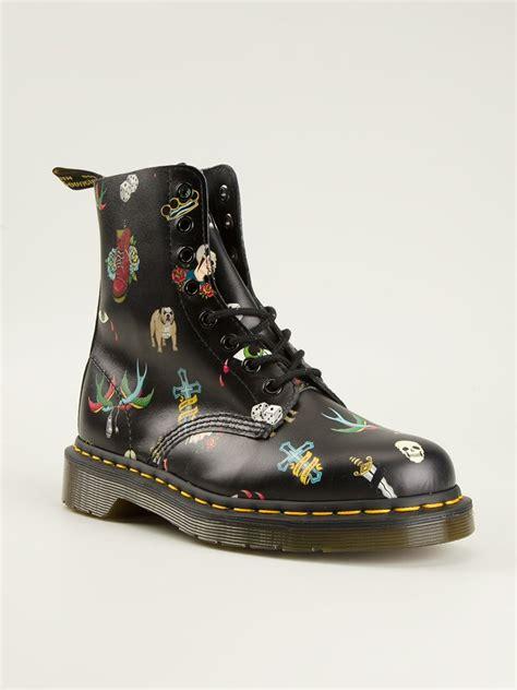 tattoo creams boots lyst dr martens 1460 tattoo print boots in black