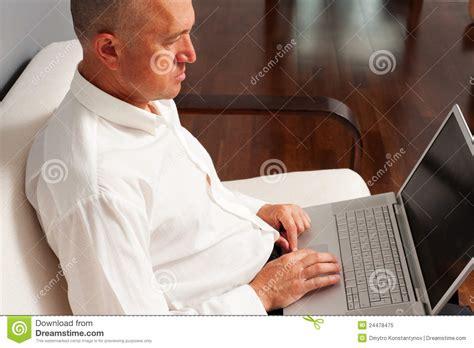 senior basinessman working at home royalty free stock