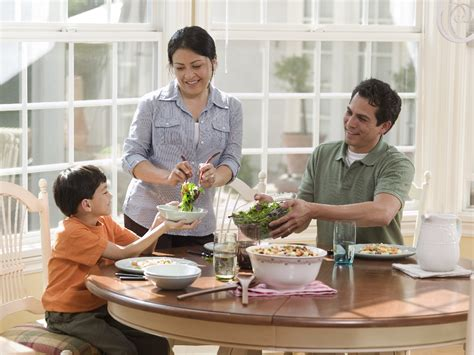 Family At Dinner Table Clipart