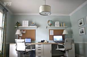 Home Office With Two Desks 16 Home Office Desk Ideas For Two