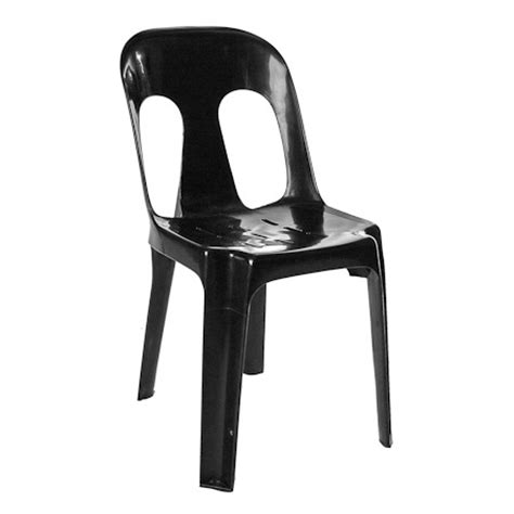 Black Plastic Chairs by Seating Rbr Event Hire