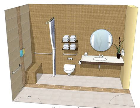 barrier free bathroom design design style residential spaces
