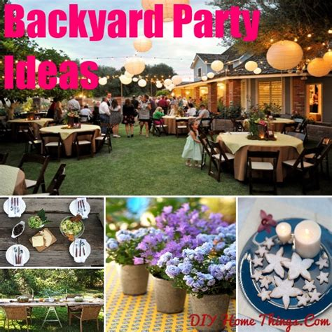 backyard party themes outdoor party decorations diy www pixshark com images