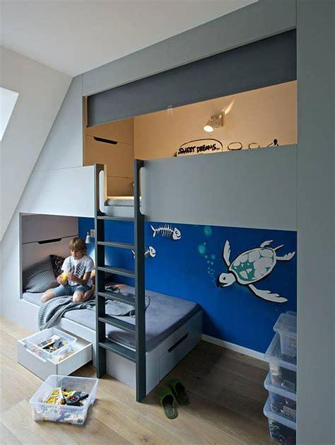 Boys' Bedroom With Sleeping Loft And Plenty Of Storage