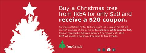 ikea canada buy a christmas tree for 20 and get 20 off