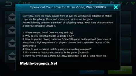 Ml Players Mobile Legends ml in 3000 bps 2018 mobile legends