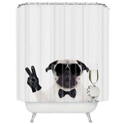 95 inch shower curtain rich dog shower curtain urban art clothing