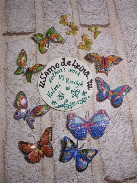 Butterfly Decoupage - how to make decoupage butterfly simple craft ideas