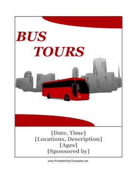 tour bus flyer