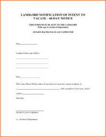 7 sample letter for 30 day notice to landlord notice letter