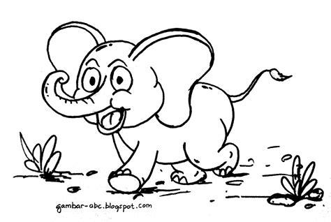 Kaos Thailand Gajah Kartun gambar mewarnai gajah contoh gambar mewarnai