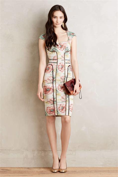 desain dress formal lyst byron lars beauty mark brocade garden sheath