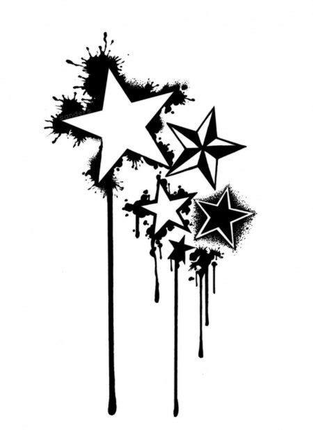 printable star tattoo designs tattoo stencil stars google search tattoos pinterest