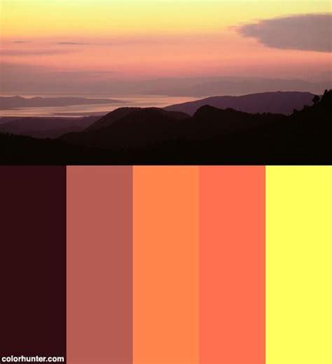sunset color scheme sunset color scheme the big day