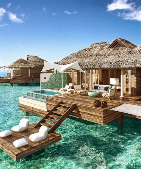sandals south coast opens booking on overwater bungalows overwater bungalows sandals royal caribbean jamaica