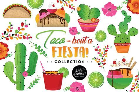 festa clipart taco bout a graphics bundle illustrations