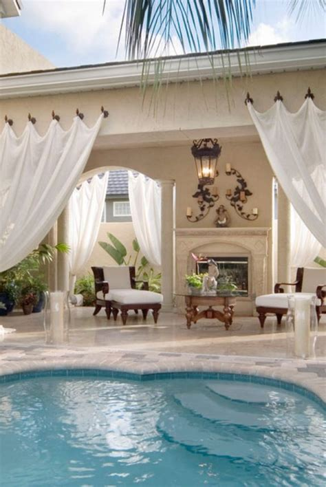 pool curtains luxury homes pools tracypillarinos outdoor curtains