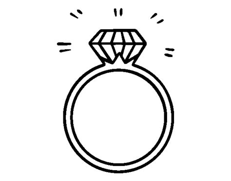 An Engagement Ring Coloring Page Coloringcrew Com Ring Coloring Pages