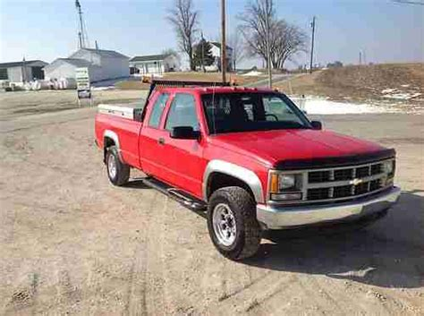 how cars run 1993 chevrolet s10 seat position control purchase used 1999 chevy 2500 4x4 service truck in little york illinois united states for us