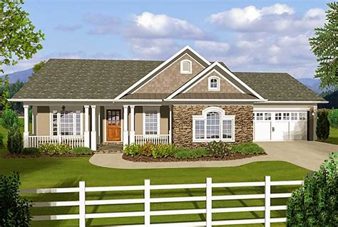 house plans with covered porches 3 bedroom ranch with covered porches 20108ga